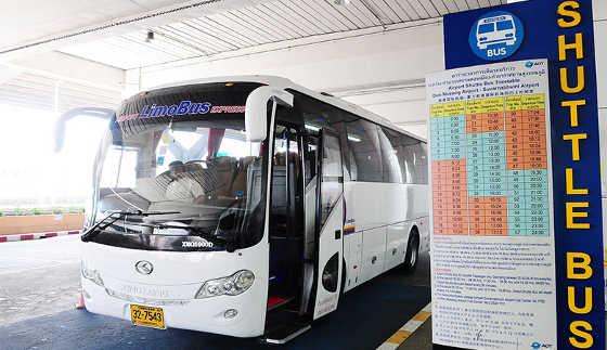 Airport Limobus Express runs between Don Muang International Airport and downtown Bangkok.