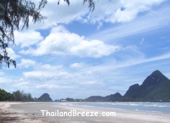 Ao Manao beach in Prachuap Khiri Khan province, in the south of Thailand.