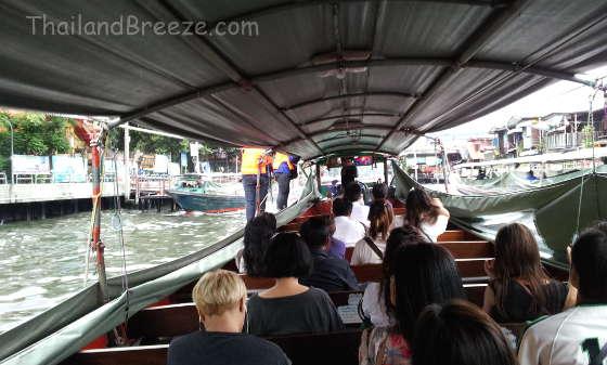 Saen Saeb canal express boat in Bangkok.