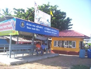 In Thailand there are many bus stops along the highway