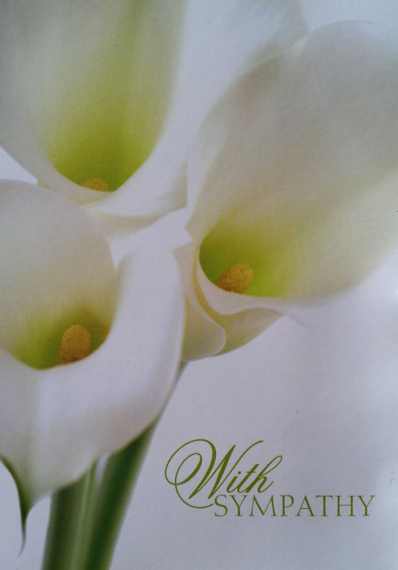 When giving a condolence card in Thailand, we usually say sia jai duay.