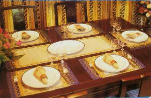 Khomapastr exclusive gold-printed cotton fabric place mats