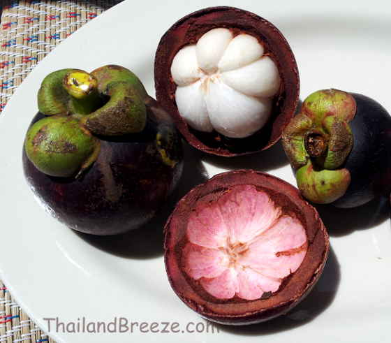 How to open a mangosteen with a knife.