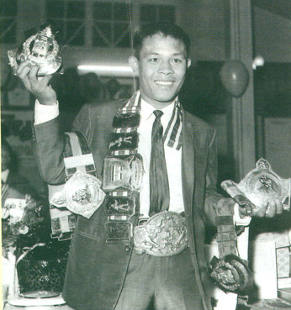 Muay Thai welterweight champion in Thailand