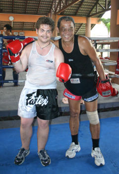 Muay Thai training at Fairtex Camp in Thailand