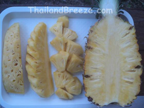 Phuket pineapples are world famous for their delicious taste and crispy texture.