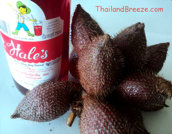 Red Hale's Blue Boy is a salacca flavored fruit syrup in Thailand.