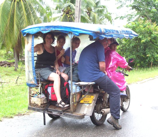 The saleng is a popular form of transportation in rural Thailand