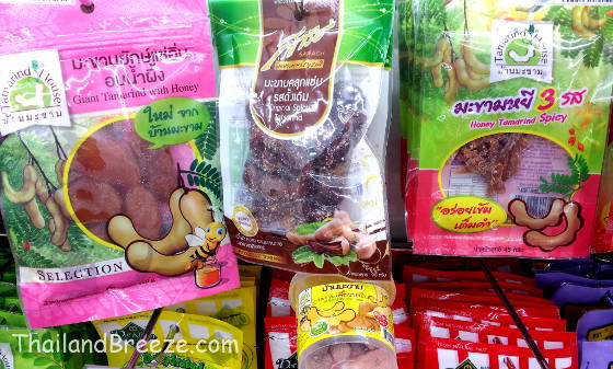 Thai tamarind snacks come in different flavors.