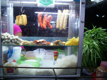 Thailand offers many kinds of noodles and meat balls