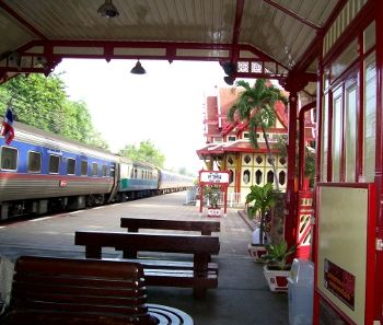 Hua Hin train station in Thailand.