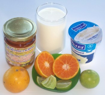 Learn how to prepare a honey citrus yogurt drink